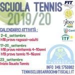 SCUOLA TENNIS STAGIONE 2019-20